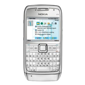 Nokia E71 Unlocked Phone with 3.2 MP Camera, 3G, Media Player, GPS, Wi-Fi, and MicroSD Slot--U.S. Version with Warranty (White)