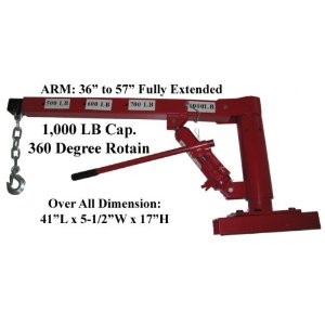 360 Degree 1000lb Lift Hoist Pickup Truck Crane Davit