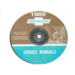 1969 Corvette Shop and Service Manual on CD