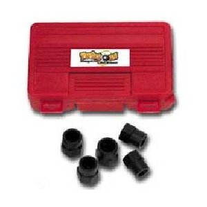 5Pc 1/2in Drive Twist Out Lug Nut Set