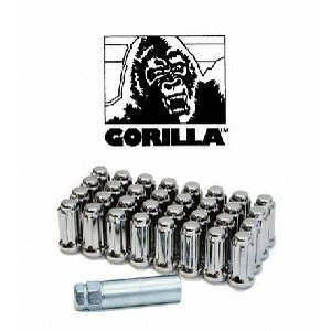 Gorilla Automotive 44027AL Open End Aluminum Racing Lug Nuts (12mm x 1.25