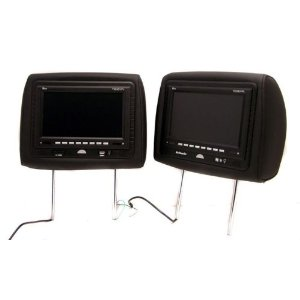 Pair of New Tview T7929dvpl-black Headrests with 9