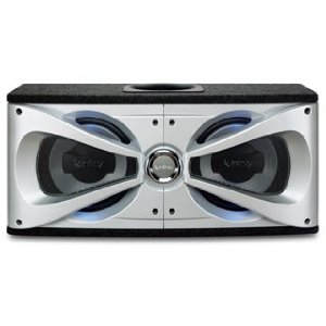 Infinity Reference 1220de Dual 12-Inch Preloaded Enclosure with Slipstream Port (Silver/Black)
