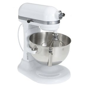 Factory-Reconditioned KitchenAid RKV25G0XWW Professional 5 Plus Bowl Lift Stand Mixer, White on White