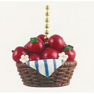 Delicious Red Apples Apple Basket Ceiling Fan Pull