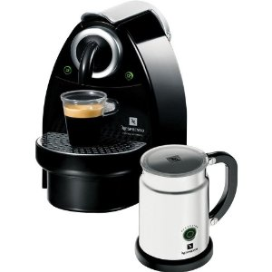 Nespresso C100-US-AERO Essenza Automatic Single-Serve Espresso Machine with Nespresso Aeroccino Milk Frother