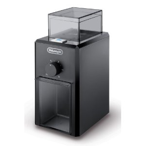 DeLonghi KG79 Electric 12-Cup Burr Grinder, Black