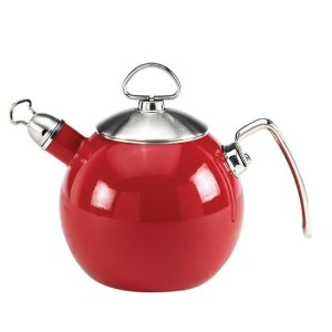 Chantal Enamel-on-Steel 1-1/3-Quart Tea Ball, Red