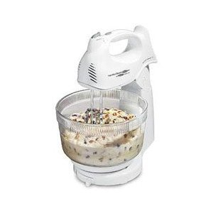 Hamilton Beach 6 Speed 225 Watts Hand / Stand Mixer with Glass Bowl