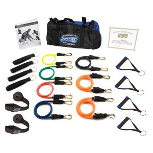 Bodylastics Terrell Owens Super Strong Man Heavy Duty Resistance Bands System with User Book