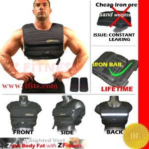 NEW! ZF 40LBS WEIGHTED VEST (WEIGHTS INCLUDED)