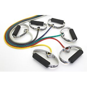 Thera-Band resistance Tubing with Soft Grip Handles