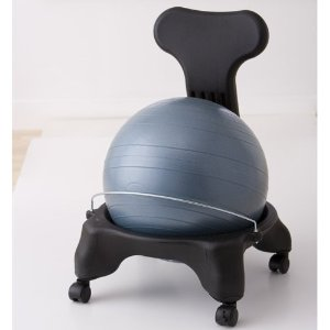 BalanceBall� Chair with Pump (Pool Blue, Sage Green, Plum Purple) Gaiam Exclusive Colors