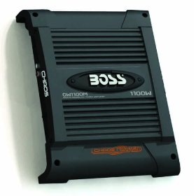 BOSS CW1100M CHAOS WIRED 1100 Watts Mosfet Monoblock Power Amplifier with Subwoofer Level Control
