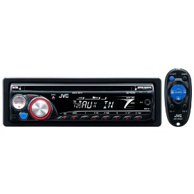 JVC KD-R200 AM/FM Single-DIN MP3/WMA-Compatible In-Dash CD Receiver with Remote Control