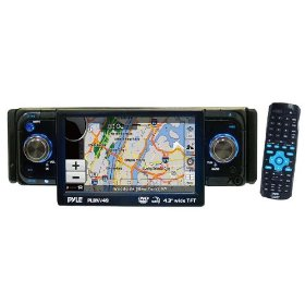 PYLE PLDNV49 4.3-Inch TFT Touch Screen DVD/CD/MP3 Player/AM/FM/SD-USB Receiver with Built-IN GPS and USA Canada and Mexico Maps