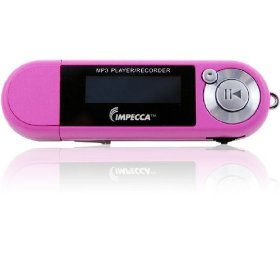 Impecca MP1402FP 4GB MP3 Player and Digital Voice Recorder with FM Tuner Soft Pink