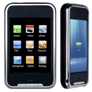 Teptronics 1 GB Portable Media Player with Touchscreen and Expandable Memory