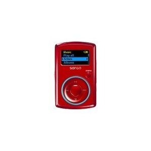 SanDisk Sansa Clip 2 GB MP3 Player (Red)
