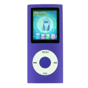 Nano Style Purple MP3 MP4 WMA Music Video Player With Built in 4GB Flash Memory, 1.8'' TFT LCD Screen, FM Radio, Voice Recorder, Ebooks, Games, Photo Viewer. FREE Silicon Gel Case