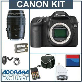 Canon EOS 50D Digital SLR Camera Dental Kit - Deluxe Version - with Canon EF 100mm f/2.8 USM Macro Lens, Canon Macro Ring Lite MR-14EX, Spare BP511 Type Battery, AA NiMH Batteries w/Charger, 8GB Compact Flash Card, Card Reader, Backpack / Shoulder Bag