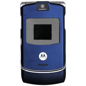 Motorola RAZR V3 Unlocked Phone with Camera and Video Player--International Version with Warranty (Cosmic Blue)