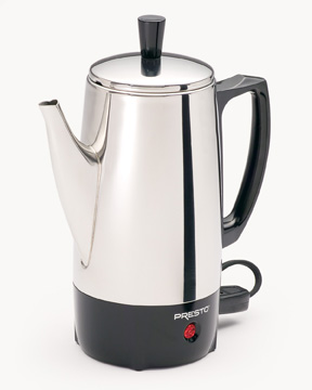 Presto 02822 steel coffee percolator 6cup