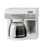 B&d odc450 white steel coffee maker 12cup