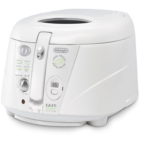 Delonghi d895ux white deep fryer roto 1.5 oil drain system