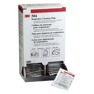 3M Automotive (3M 7065) Respirator Cleaning Wipe 504/07065(AAD), Alcohol-Free, Individually Packaged