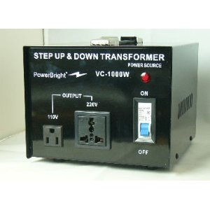 Power Bright VC1000W Voltage Transformer 1000 Watt Step Up/Down 110 Volt - 220 Volt