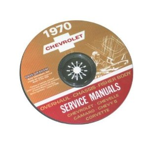 1970 Corvette Shop and Service Manual on CD