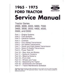 1965-1975 FORD TRACTOR 2000-7000 Service Manual Book