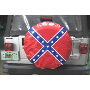 Confederate Flag Spare Tire Cover Rebel 28