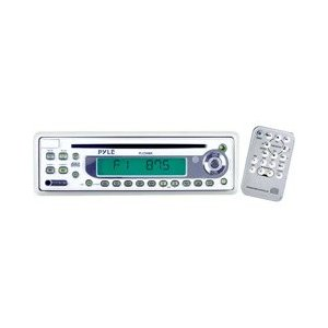 PYLE PLCD9MR AM/FM-MPX In-Dash Marine CD Player withFull Face Detachable Panel