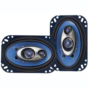 PYLE PL463BL 4-Inch x 6-Inch 240 Watt Three-Way Speakers