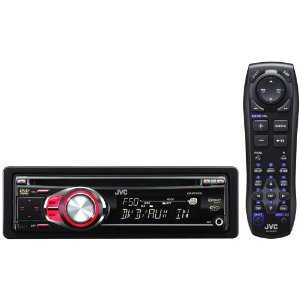 JVC KD-DV5500 Single DIN DVD/CD/WAV/MP3/WMA iPod/HD Radio Receiver/Satellite Ready with Front AUX input