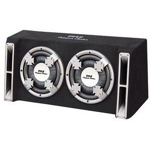 PYLE PL210DS Dual 10-Inch Slim Designed Bass Box System