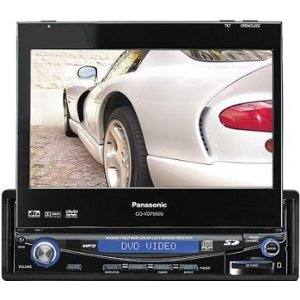 Panasonic CQ VD7500U - DVD player with LCD monitor and AM/FM/TV tuner