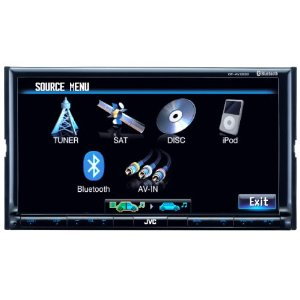 JVC KW-AVX830 Double-DIN Multimedia Satellite/HD Radio/Bluetooth Built-In with 7-Inch Widescreen Touch Panel Monitor, DVD/CD/iPod/iPhone USB 2.0