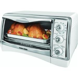 Black & Decker CTO4300W Perfect Broil Countertop Oven, White