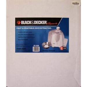 BLACK & DECKER FRUIT & VEGETABLE JUICE EXTRACTOR (FACTORY SERVICED PRODUCT)