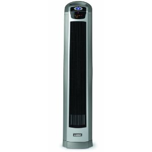 Lasko 5568 34-Inch Oscillating Ceramic Tower Heater with Remote Control