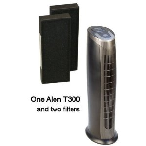 Alen T300 HEPA Air Purifier, with T300 Replacement 2-pack HEPA Air Filters