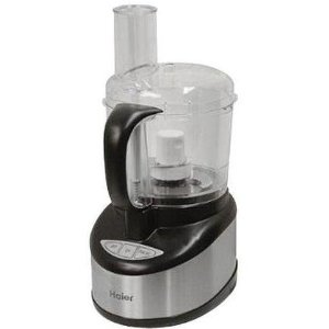 Haier HFP400SS 400-Watt 10-Cup Food Processor, Stainless Steel with Black Trim