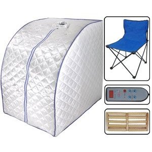 New Deluxe X-large Home Infrared FIR Portable Sauna Detox Ion Loss Weight Silver
