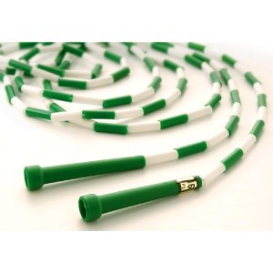 9ft Segmented Skip Rope (GreenWhite, OrangeWhite), Jump Rope, Fitness Skipping Rope