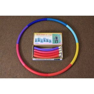 Weighted Sports Hula Hoop for Weight Loss - Trim Hoop 3B 3 lb. No Ridge, Travel Easy and Easy to Assemble/disassemble