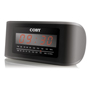 Coby cra54 black clock radio digital alarm 110 220v