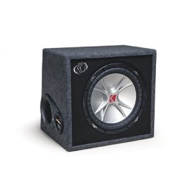 Kicker CompVR 07VCVR124 4-Ohm 1 Subwoofer In Vent Box